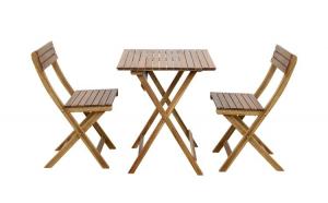 Set mobilier gradina, masa + 2 scaune, maro • Blooma Virginia