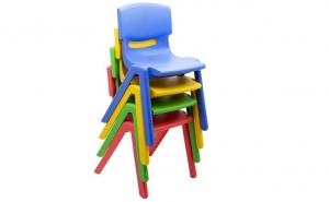 Scaun din plastic pentru copii, configurat anatomic pentru confort sporit, rezistenta foarte ridicata, la doar 55 RON in loc de 85 RON