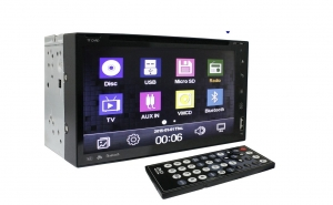 CD-DVD player auto, 2DIN, universal, cu android, GPS, Touchscreen, microfon incorporat, ecran LCD 7 inchi