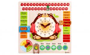 Montessori Calendarul Naturii din lemn