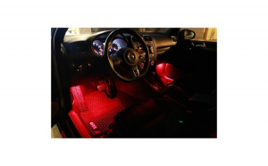 Lumini Ambientale auto Kit interior LED 12 SMD RGB cu telecomanda Wireless Amazone Tech