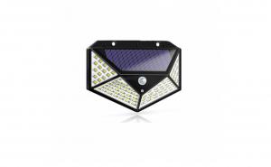 Set 3 x Lampa LED cu panou solar si cu senzor de miscare