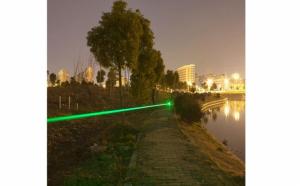 Laser puternic verde 3D