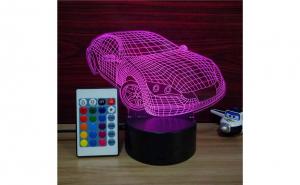 Lampa de veghe 3D, masina