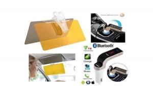 Parasolar auto Visor HD zi si noapte + Modulator FM auto MP3 Player Bluetooth