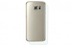 Folie sticla securizata Spate Samsung Galaxy S6 Edge Transparenta