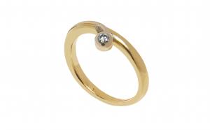Inel din aur 14K cu diamant 0.05 ct