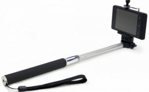 Selfie stick - Monopod extensibil cu suport pentru telefon si telecomanda wireless, bluetooth, la 42 RON in loc de 99 RON