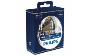 Set 2 becuri auto pentru far Philips H7 Racing Vision, 12 V, 55W