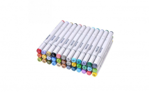 Set markere pentru colorat cu 2 capete Art Marker 36 culori