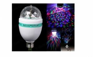 Bec disco LED - Lampa rotativa - Cristal ball, la 28 RON in loc de 71 RON