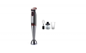 Blender profesional 4 in 1, 1000 W, Hausberg HB 7700, 2 viteze, lame otel inoxidabil