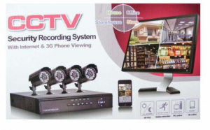 Sistem supraveghere CCTV kit DVR, 4 camere, exterior/interior