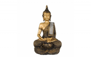 Statueta decorativa Buddha cu suport