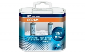 Set 2 Becuri auto pentru far Osram H7 Cool Blue Intense, up to 20%, 12V, 55W