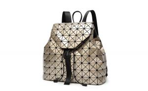 Rucsac dama Geometric Travel Auriu