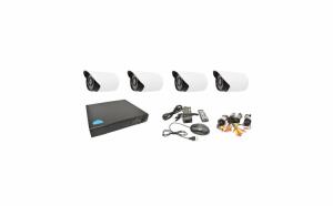 Sistem de supraveghere cu 4 camere IR de exterior/interor, 1200 TVL, internet si vizionare pe Smartphone