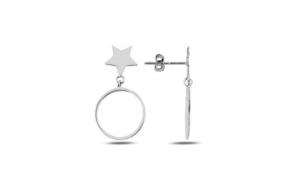 Cercei argint cu steluta si cerc