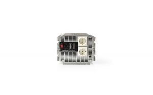 Invertor de tensiune Nedis 24V-230V 2500W 2x Schuko, telecomanda