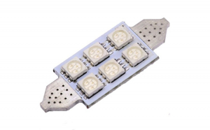 Bec LED SOFIT 42MM 6 SMD 5050 12V ALBA