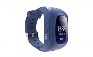 Ceas Smartwatch pentru Copii Albastru Inchis Q50 Slot Cartela SIM  GPS Tracker  Buton Urgenta SOS  Monitorizare Live