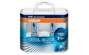 Set 2 becuri auto pentru far Osram H4 Cool Blue Intense, up to 20%, 12V, 55W