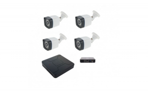 Kit supraveghere 4 camere 960P 1.3MP ccd Sony starlight 30m IR color noaptea