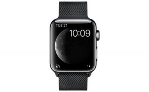 Curea Metalica Milanese Premium MTP Quick Release 44mm Black pentru Apple Watch