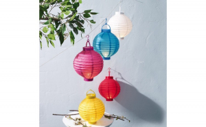 Lampioane cu LED, diferite culori, 20 cm