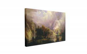 Tablou Canvas Rocky Mountain by Albert Bierstadt, 1870, 60 x 90 cm, 100% Poliester