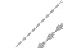 Bratara din argint placata cu rodiu, cu