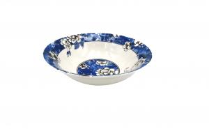 Set 6 boluri cu flori, albastru, 18 cm