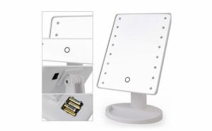Oglinda pentru machiaj, 22 x LED, buton