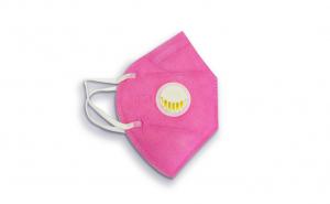 Masca faciala N95 FFP2 KN95, Valva respiratorie, Roz