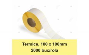 Etichete in rola, termice 100 x 100 mm,