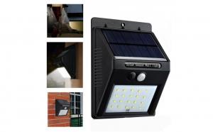 Lampa de perete cu 20 LED incarcare solara cu senzor de miscare si lumina, On/Off