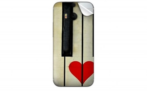 Folie protectie spate HTC One M8 Piano Love