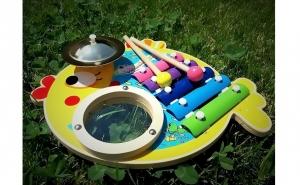Set 3 instrumente muzicale bebelusi, Ziua copilului, Jucarii de lemn