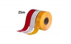 Banda reflectorizanta adeziva 25m alba, rosie sau galbena, la doar 49 RON in loc de 99 RON