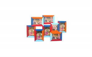 Rama multicolor cu 8 poze 65x42 cm