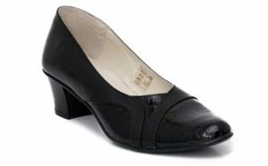 Pantofi dama din piele naturala - comozi, cu toc mic