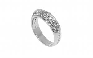 Inel Giancarlo Capra, din aur alb 18K cu diamante naturale, circumferinta - 51.5 mm, IAU232
