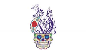 Sticker decorativ, Skull, 90 cm, 219STK-1