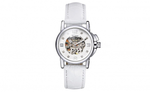 Ceas de dama Winner skeleton Automatic alb