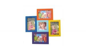 Rama multicolor cu 5 poze 40x40 cm