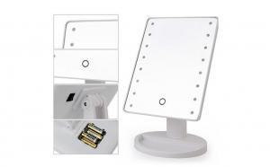 Oglinda pentru machiaj, 22 x LED, buton tactil