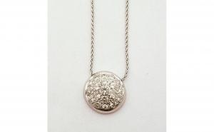 Lant cu pandantiv din Aur 18k, decorat cu diamante