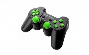 Controller cu vibratii, PC/PS3, Negru-Verde EGG107G Esperanza