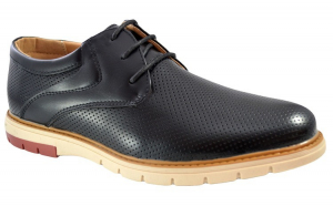 Pantofi negri barbati perforati cu talpa