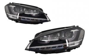 Set 2 faruri 3D LED compatibil cu VW Golf VII (2012-2017) R-Line LED Turn Light RHD